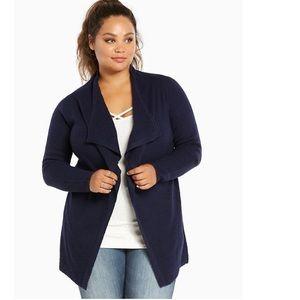 Torrid Textured Knit Drape Cardigan Plus Size 2X